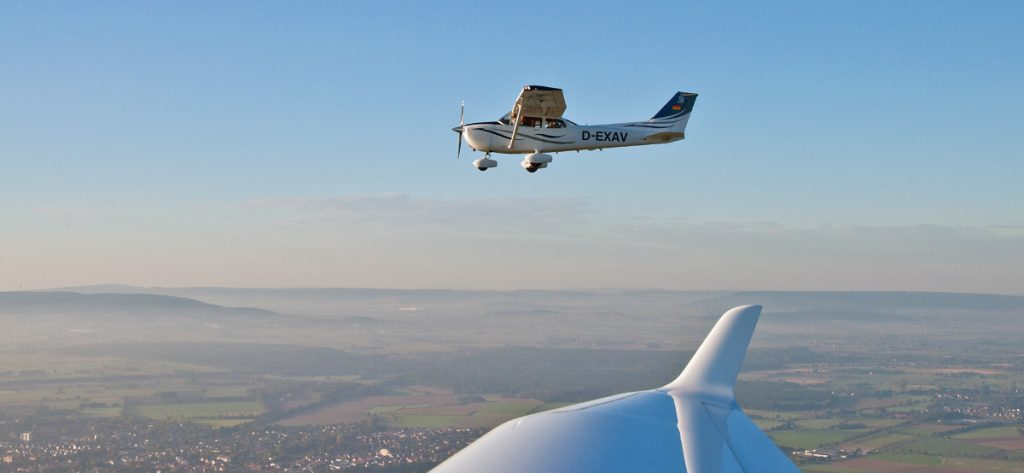 Bild: Cessna über der Region Hannover