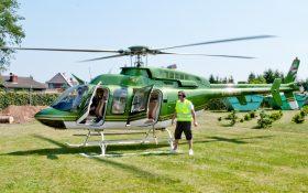 Bild: Hubschrauber beim Start