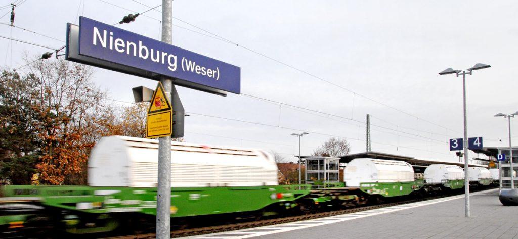 Bild: Castor-Transport Nienburg
