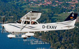 Bild: Fliegende Cessna 172