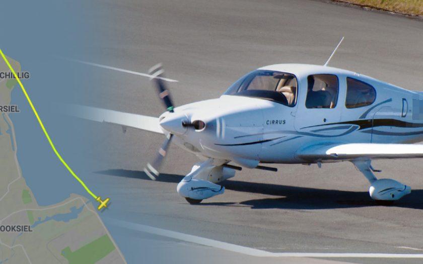 Grafik: Screenshot Flightradar24, Cirrus SR20
