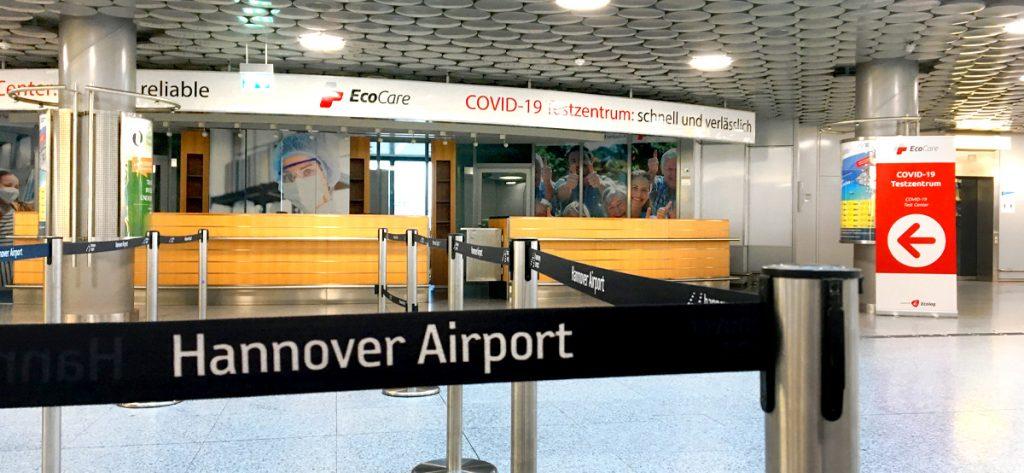 Bild: Corona-Testzentrum Hannover Airport