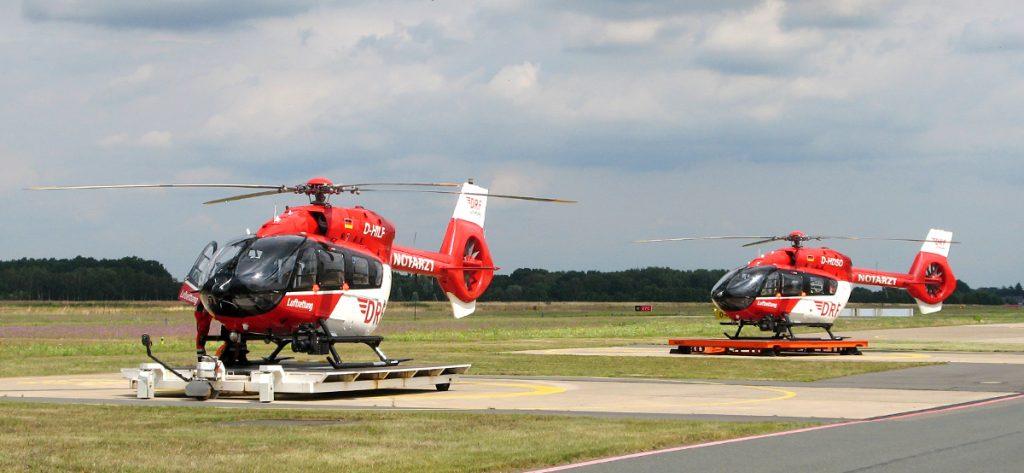 Bild: Zwei DRF-Hubschrauber