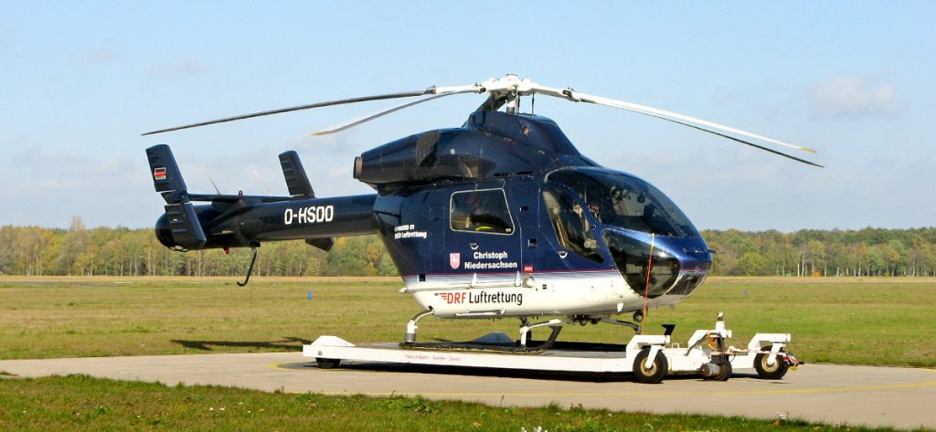 Bild: DRF-Hubschrauber in blau