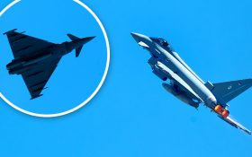 Bild: Fotomontage Eurofighter Typhoon