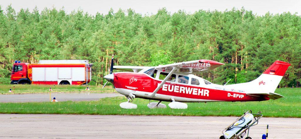 Bild: Feuerwehrflugdienst Niedersachsen Cessna 206 D-EFVP