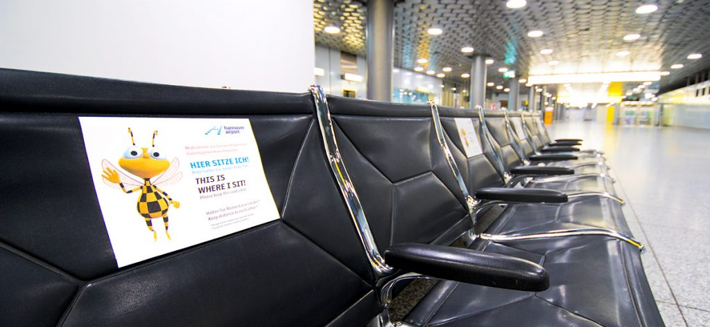 Bild: Sitzbank am Flughafen
