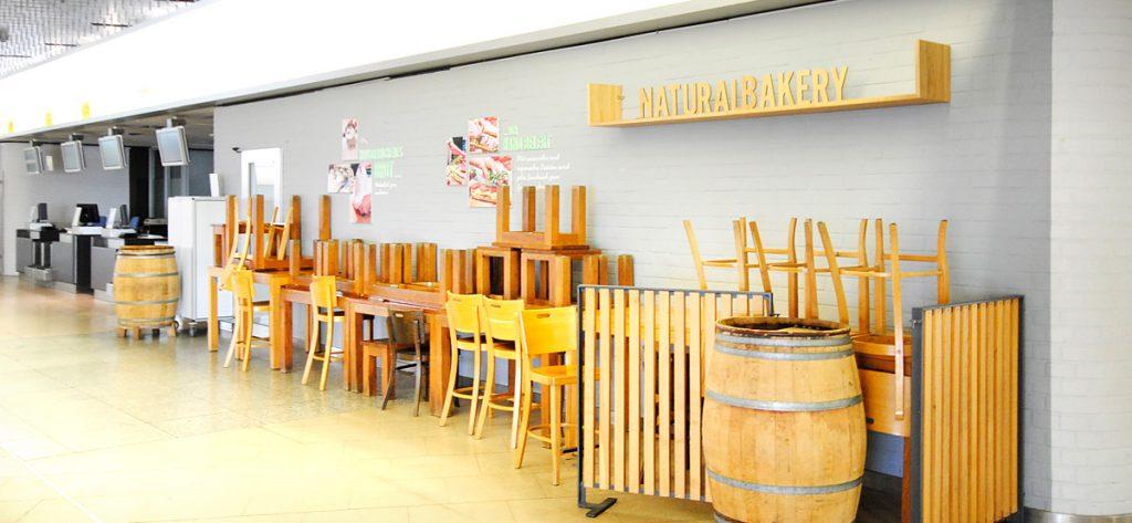 Bild: Geschlossene Gastronomie am Flughafen