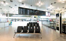 Bild: Leeres Flughafen-Terminal