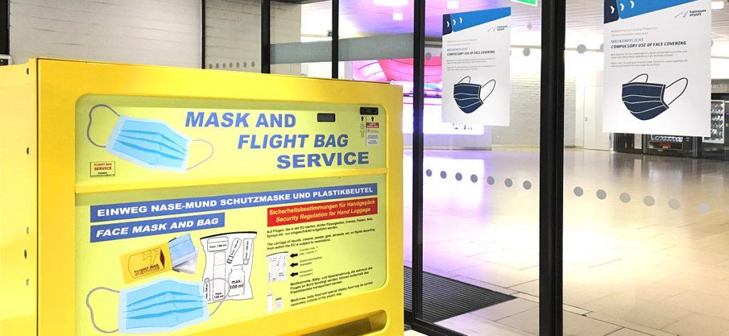 Bild: Schutzmasken Automat Flughafen Hannover