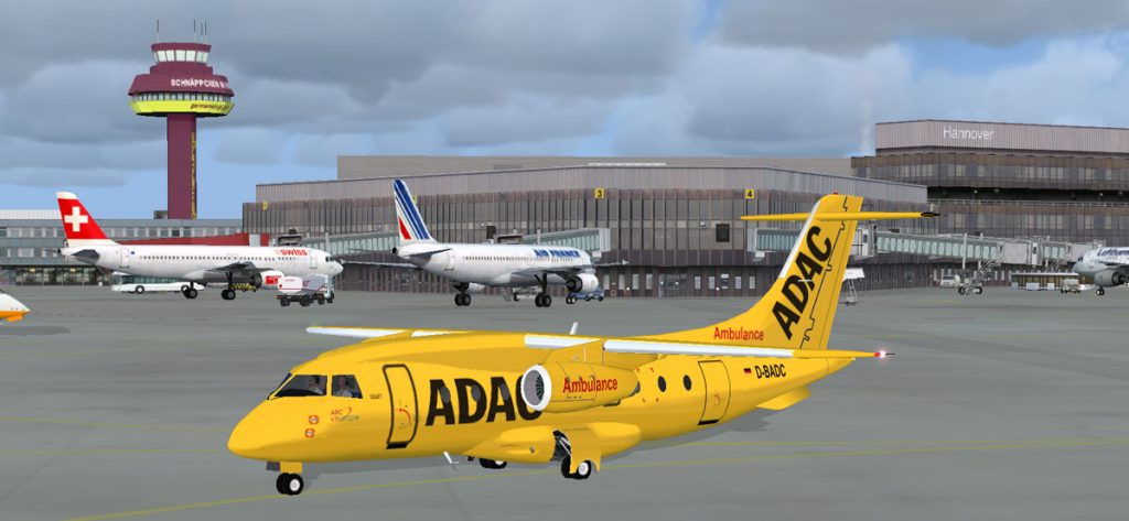 Bild: D-BADA am Flughafen Hannover (FSX)