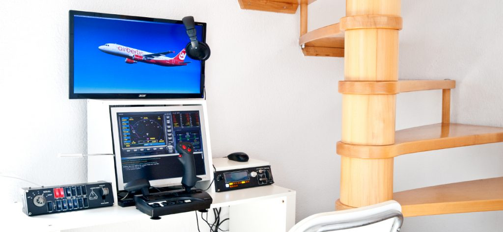 Bild: privater Flugsimulator in Basis-Konfiguration