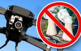 Bild: Drohne und Atomkraftwerk