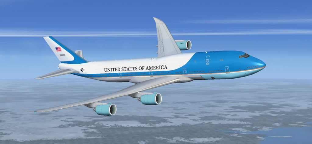 Airforce One im FSX (Screenshot)