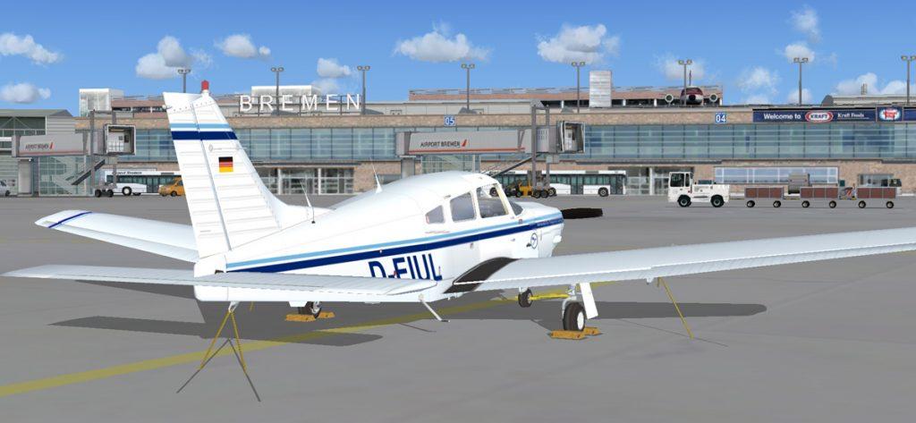 Bild: Piper PA-28 in Bremen (FSX)