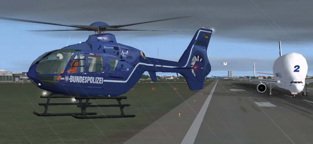 FSX-Screenshot: Bundespolizei Hubschrauber