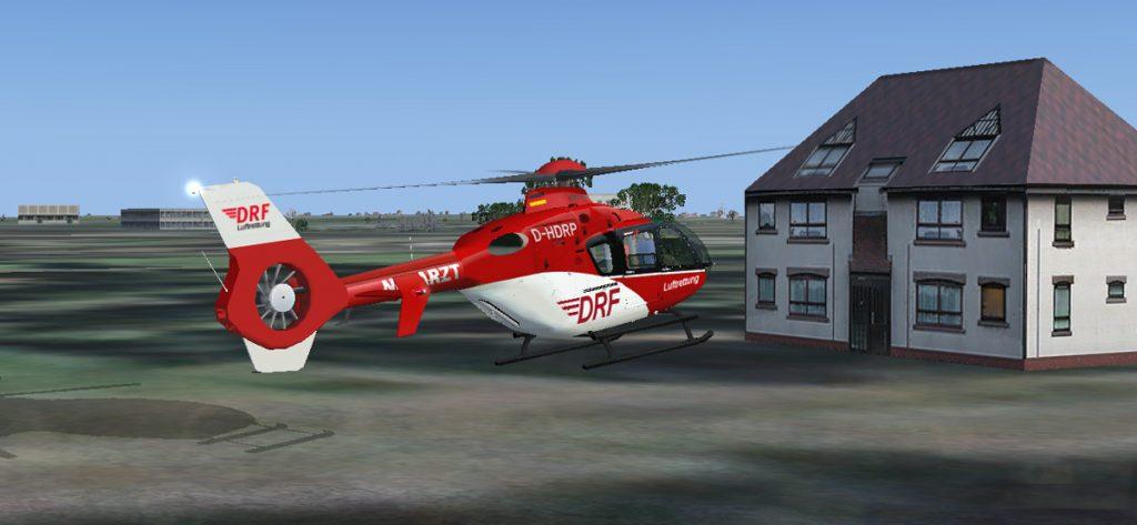 FSX-Screenshot: DRF Hubschrauber