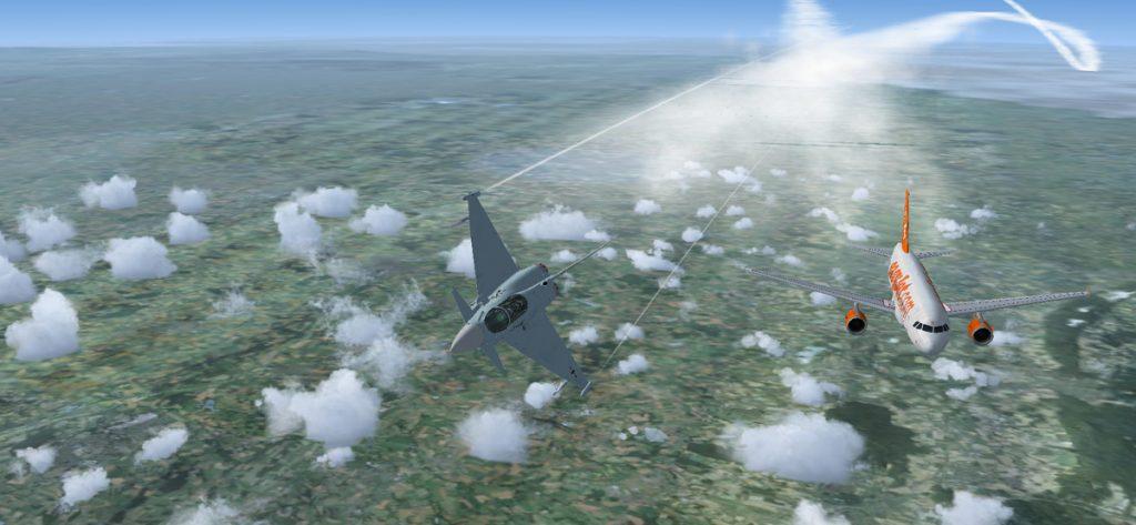 Bild: Eurofighter und Easyjet (FSX)