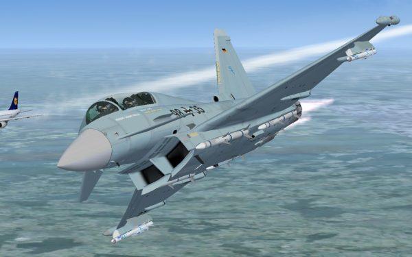 Bild: Eurofighter und Lufthansa (FSX)