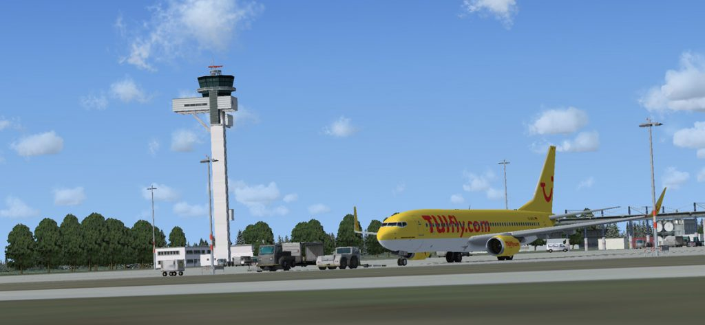 Tuifly-Maschine in Hannover (FSX)