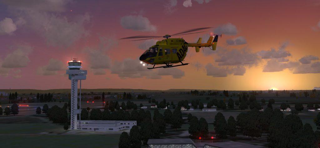 FSX-Screenshot: ADAC Hubschrauber