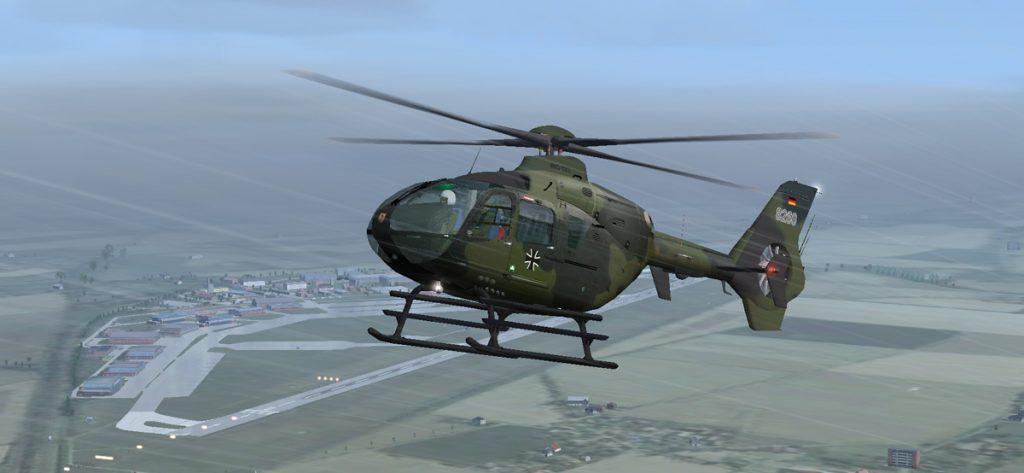 Screenshot: Hubschrauber im FSX