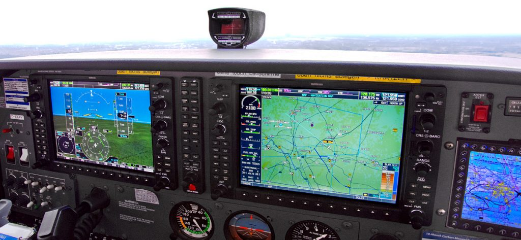 Bild: Glascockpit Cessna 172