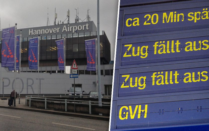 Bild: Flughafen Hannover Zug fällt aus