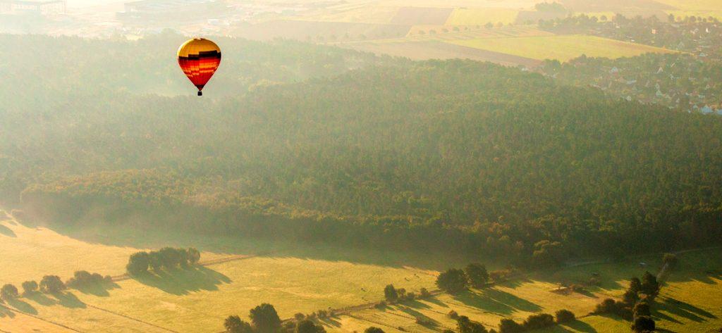 Bild: Luftbild Heißluftballon