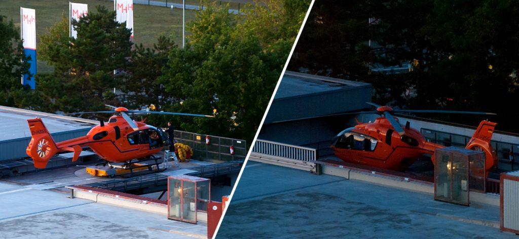 Bild: Hubschrauber auf Helilift