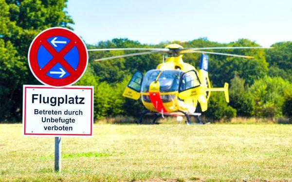 Bild: Hubschrauber-Landeplatz in Hannover