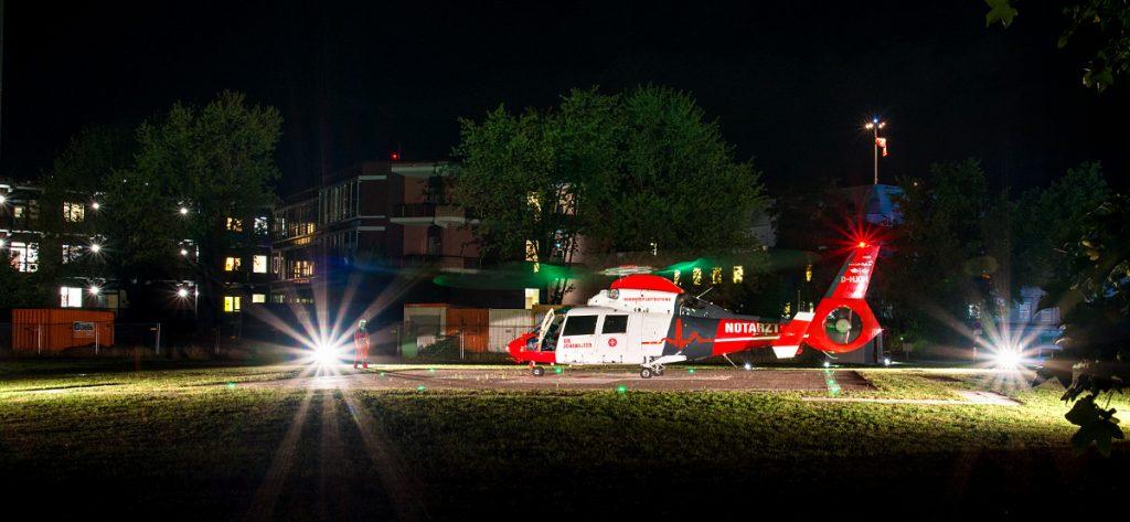 Bild: Hubschrauber nachts in Hannover