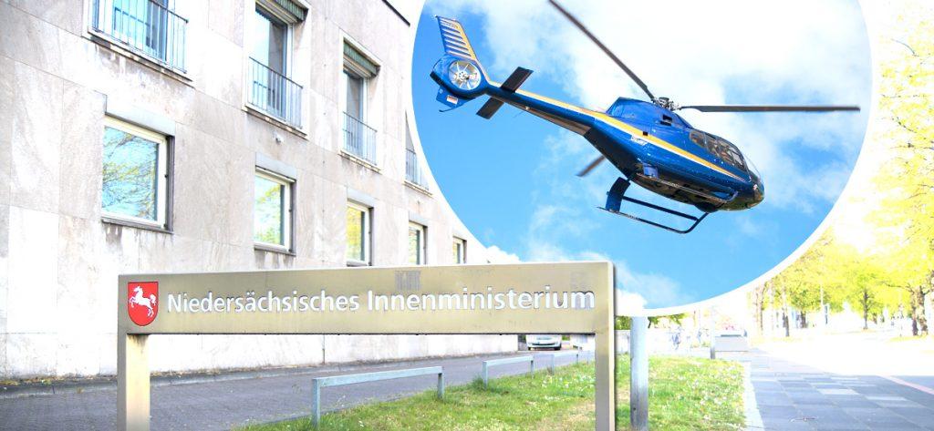 Bild: Grafik Ministerium und Hubschrauber