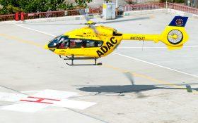 Bild: Rettungshubschrauber und Lande-H