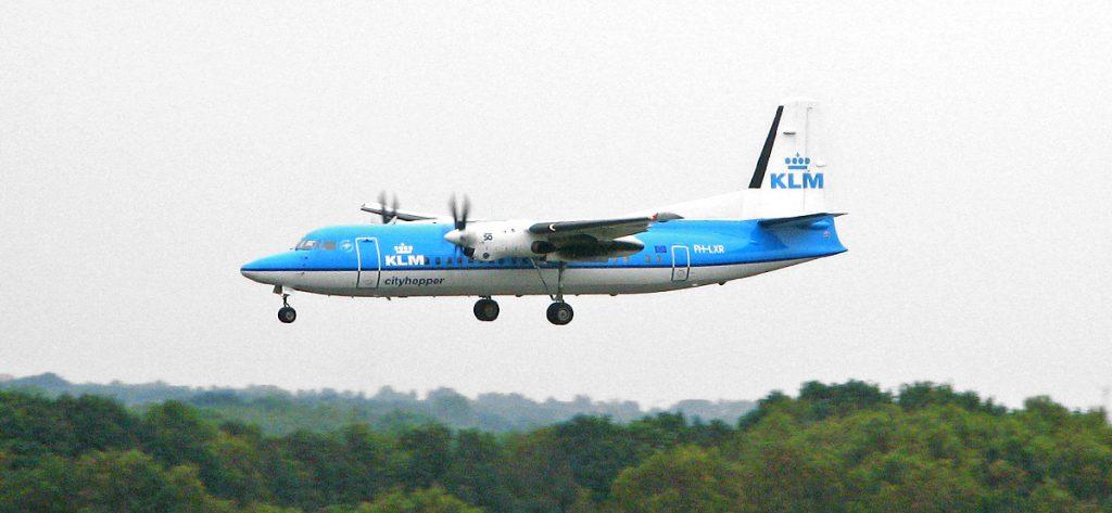 Bild: KLM Turboprop-Flugzeug
