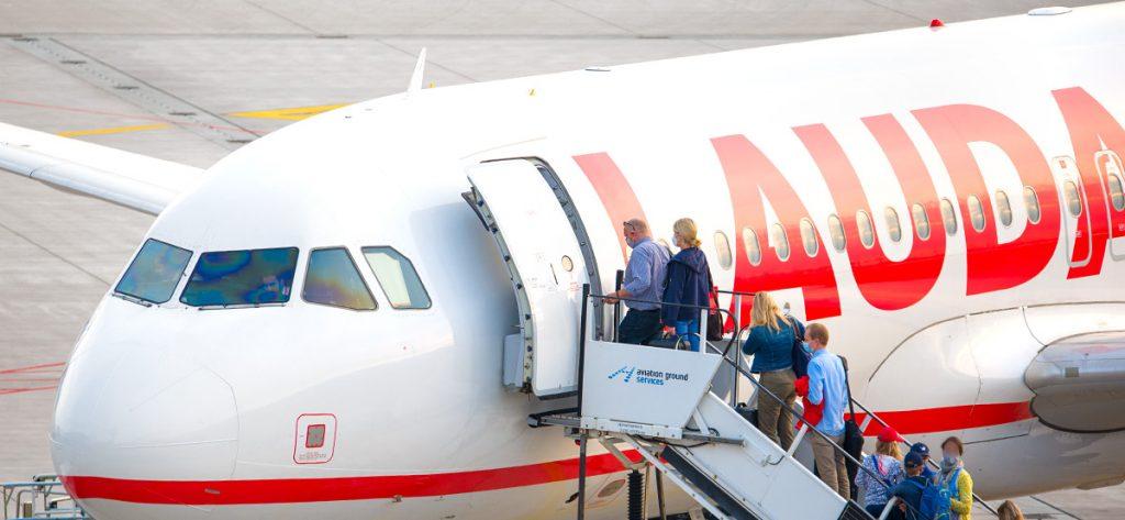 Bild: Laudamotion-Flugzeug