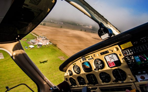 Bild: Cockpit-Ansicht Low Pass Bad Gandersheim