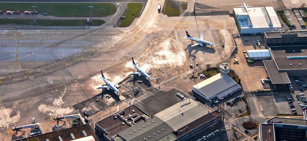 Bild: Luftbild Flughafen Bremen