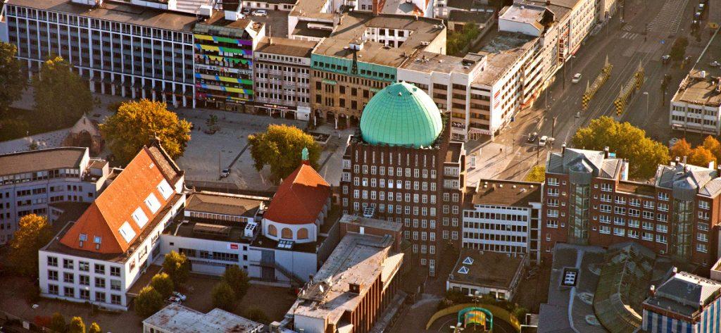 Bild: Luftbild Hannover mit Anzeiger-Hochhaus