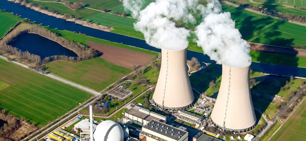 Bild: Luftbild Kernkraftwerk Grohnde