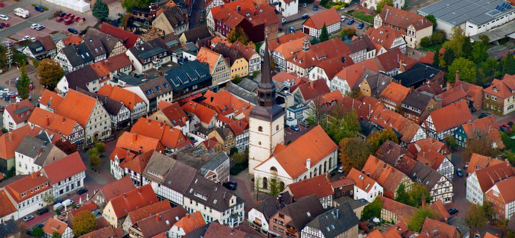 Bild: Luftbild Kirche Bad Münder