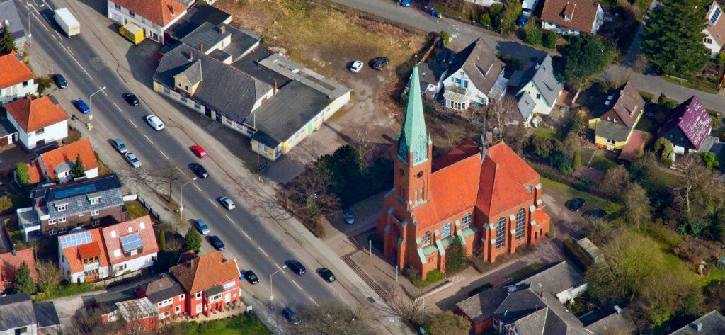 Bild: Luftbild Kirche Eversten