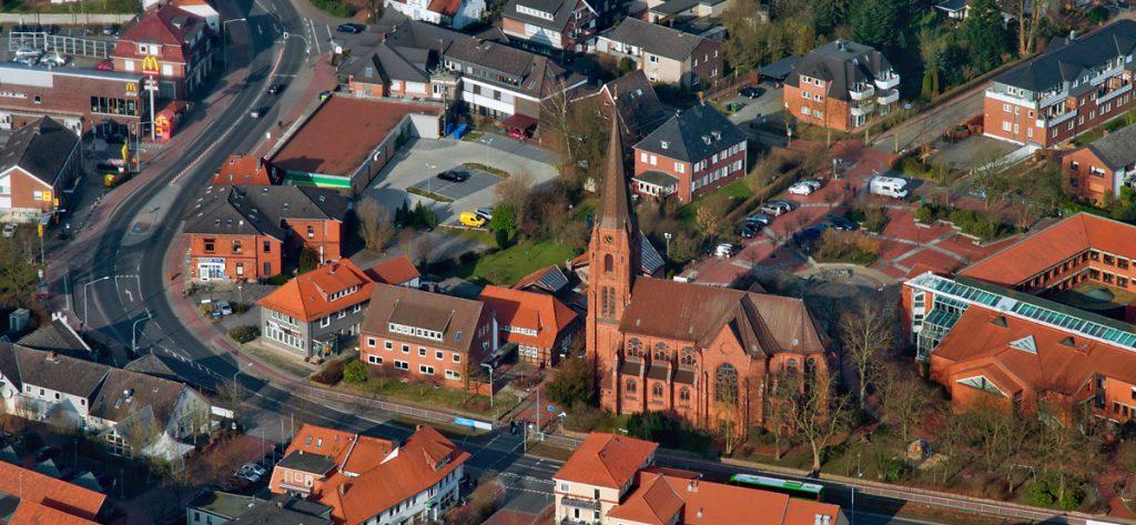 Bild: Luftbild Kirche Syke