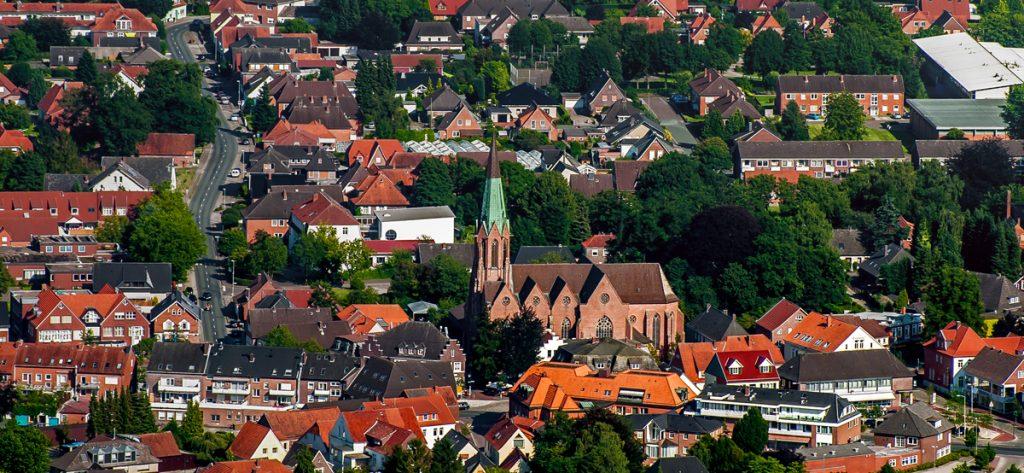 Bild: Luftbild Kirche Twistringen