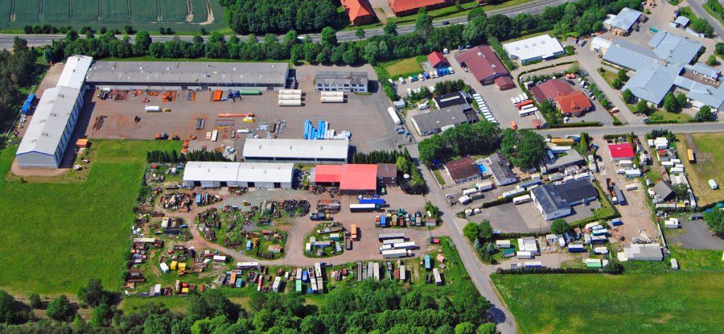 Bild: Luftbild Nienburg Gewerbegebiet Forstweg