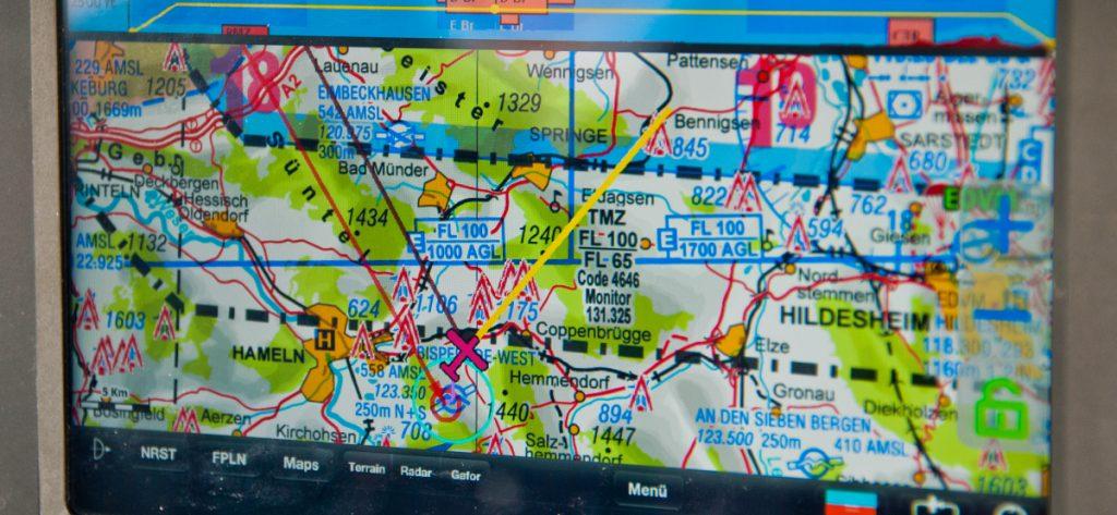 Bild: Moving Map im Cockpit