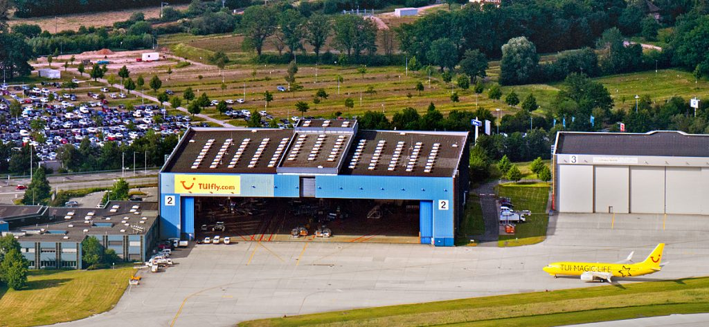 Bild: Luftbild TUI Hangar Hannover