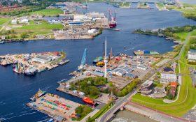 Bild: Luftbild Wilhelmshaven Hafen