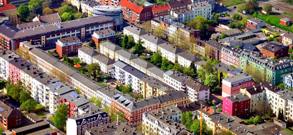Luftbild Wilhelmshaven Bahnhofsgegend