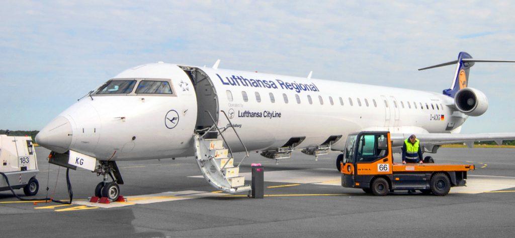 Bild: Bombardier CRJ900 D-ACKG Flughafen Paderborn-Lippstadt